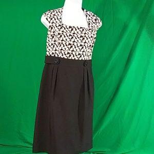 London Times black and white midi dress sz 10